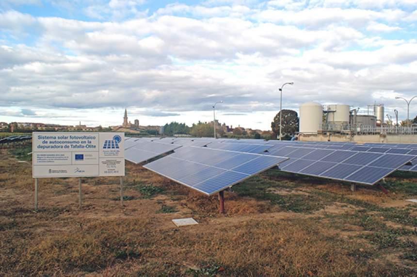 Instalación solar de la depuradora de Tafalla-Olite
